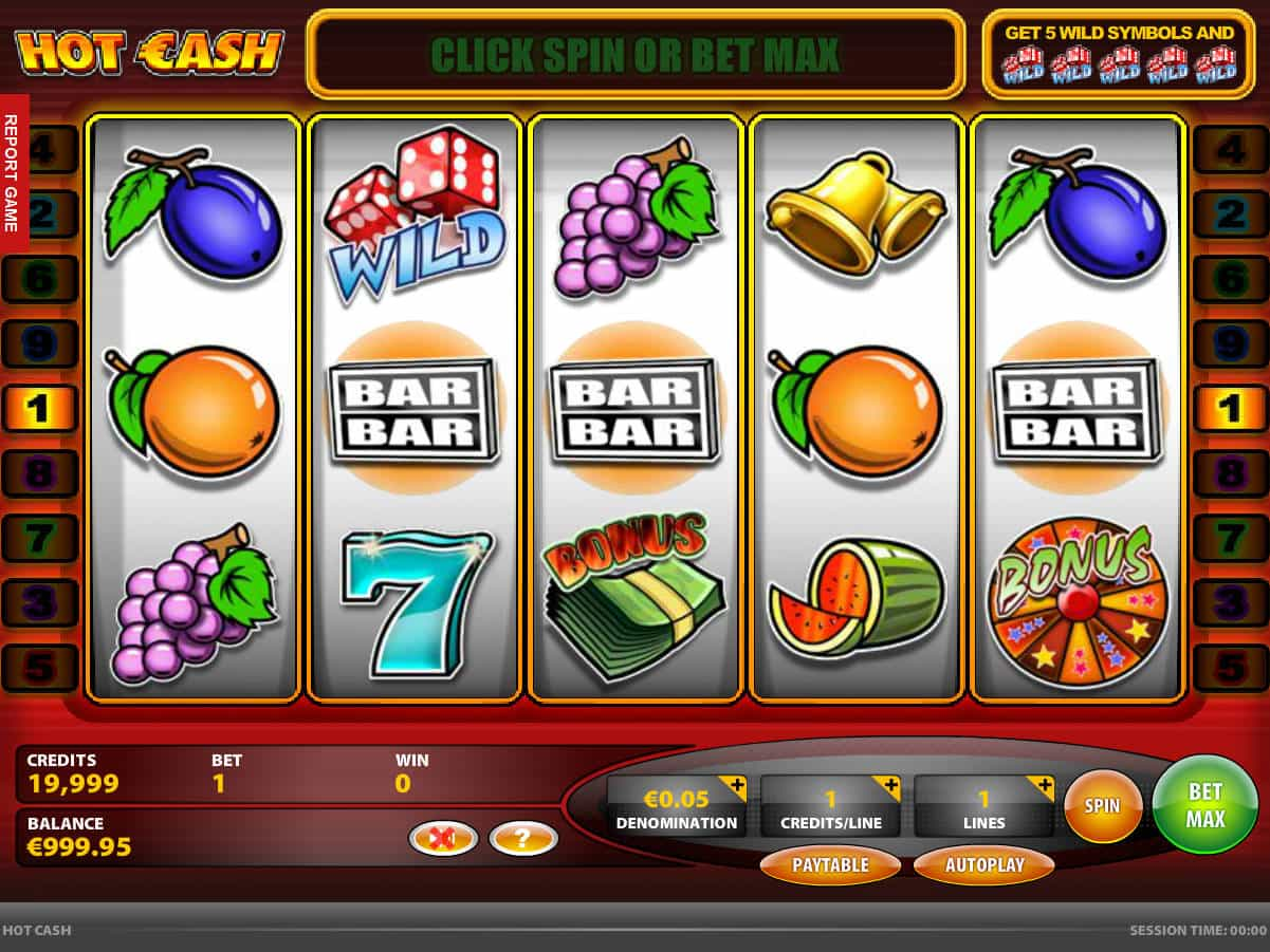 Фруктовый игровой аппарат Hot & Cash в казино Дрифт