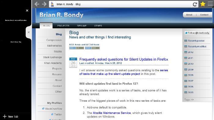 Mozilla продемонстрировала Firefox для Windows 8