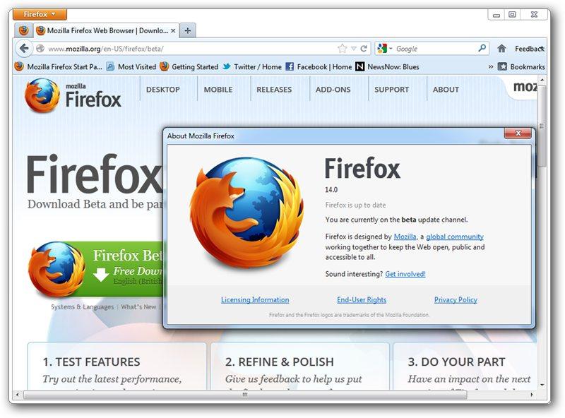 Firefox 14: HTTPS-поиск Google, активация плагинов по требованию