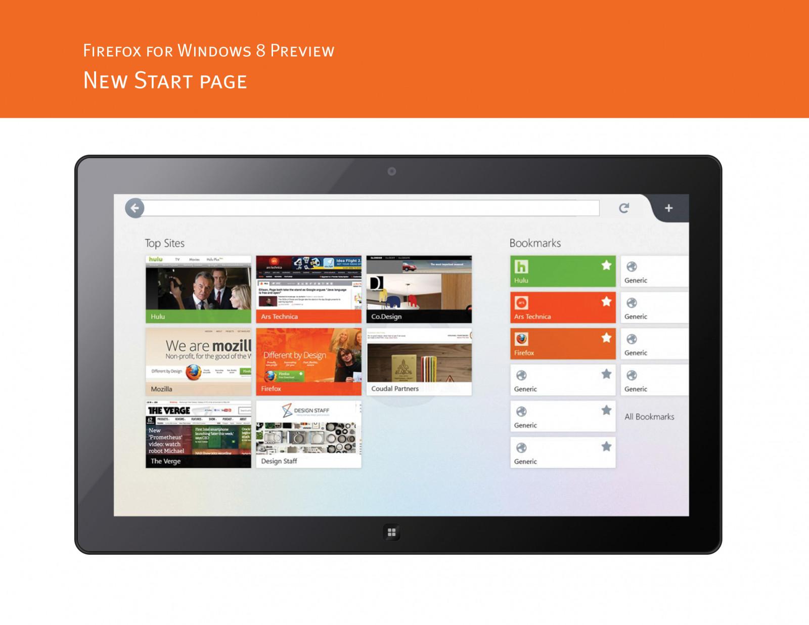 Firefox для Windows 8 с интерфейсом Modern появится в октябре