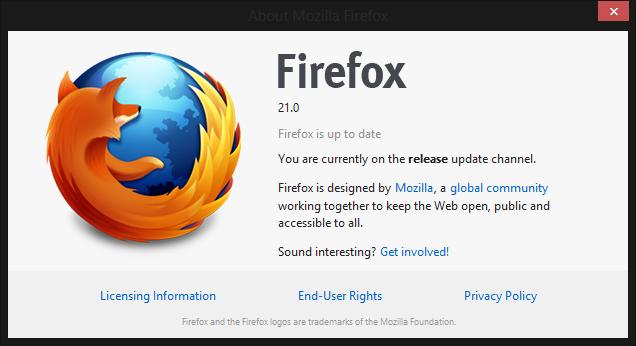 Firefox 21: улучшение DNT, помощь в ускорении браузера…