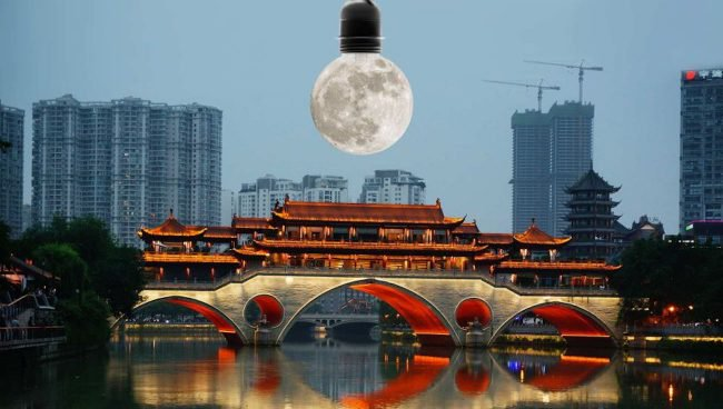Китай планирует запустить спутники, с помощью которых будут освещаться городские улицы