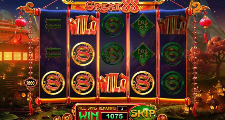 Описание бонусов автомата Great 88 из казино Вулкан Удачи
