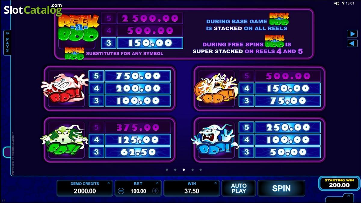 Обзор слота Peek A Boo об охотниках за привидениями от Rox Casino