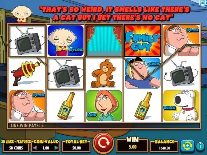 Веселый игровой аппарат Family Guy от Вулкан