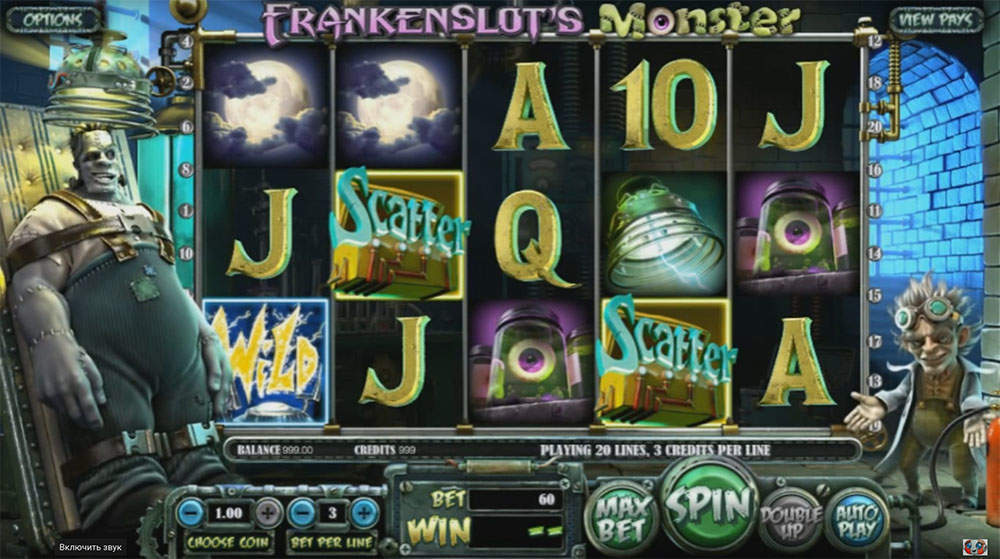 Игровой слот Frankenslot's Monster от клуба Fresh