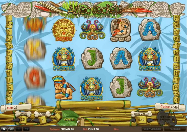Игровой автомат Aztec Secrets в клубе Вулкан