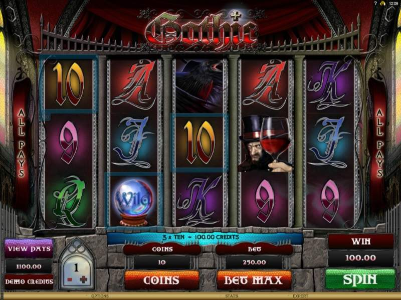 Игровой автомат Gothic от Вулкан