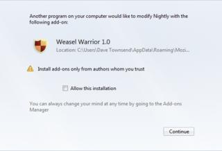 Firefox будет блокировать установку нежелательных дополнений