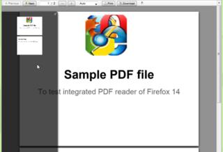 В Firefox 14 появится возможность просматривать PDF