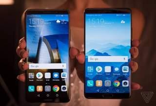 Телефоны Mate 10 от Huawei имеют большие экраны и поддержку ИИ