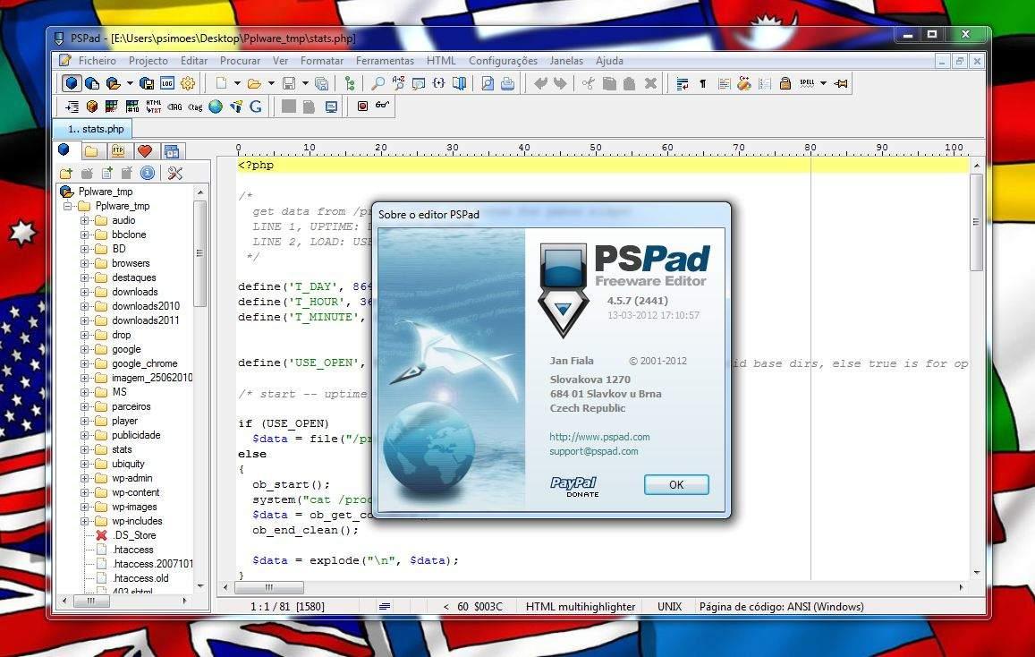 Знакомство с PSPad
