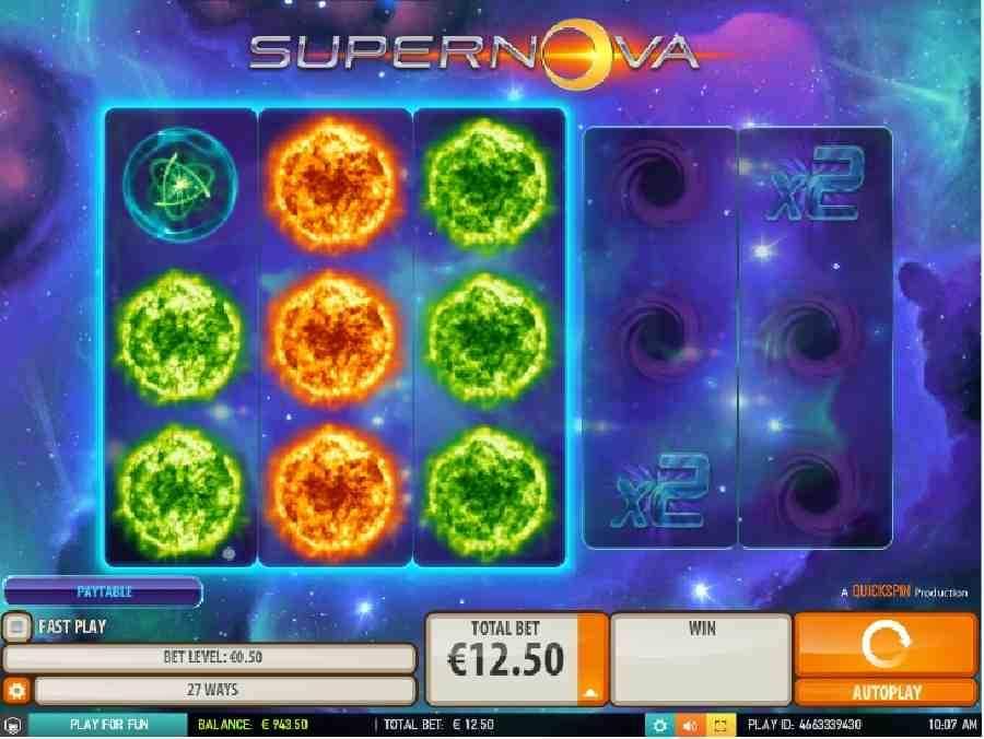 Информация об игровом слоте Supernova