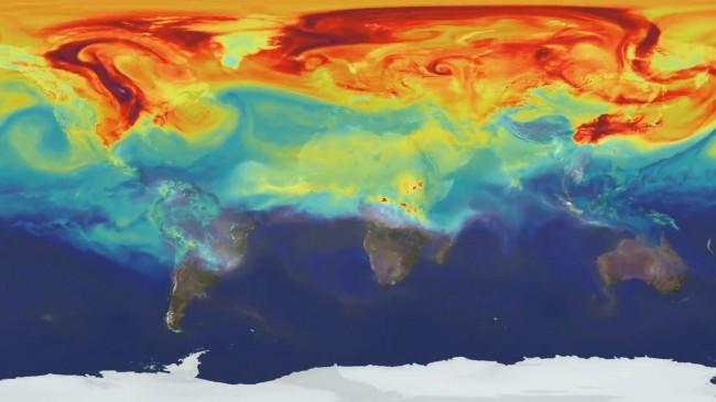 #видео   Как углекислый газ распространяется в атмосфере Земли