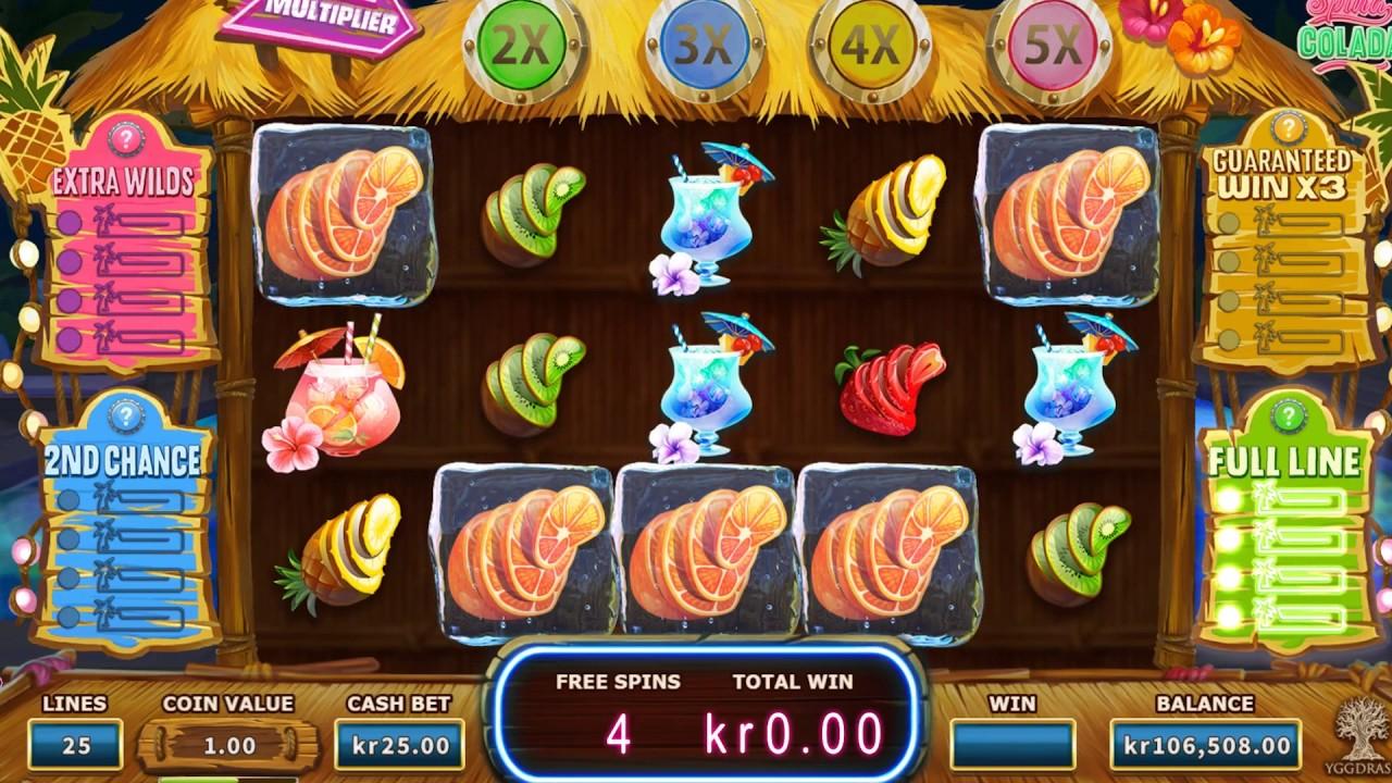 Какими характеристиками обладает игра Spina Colada из казино Фреш