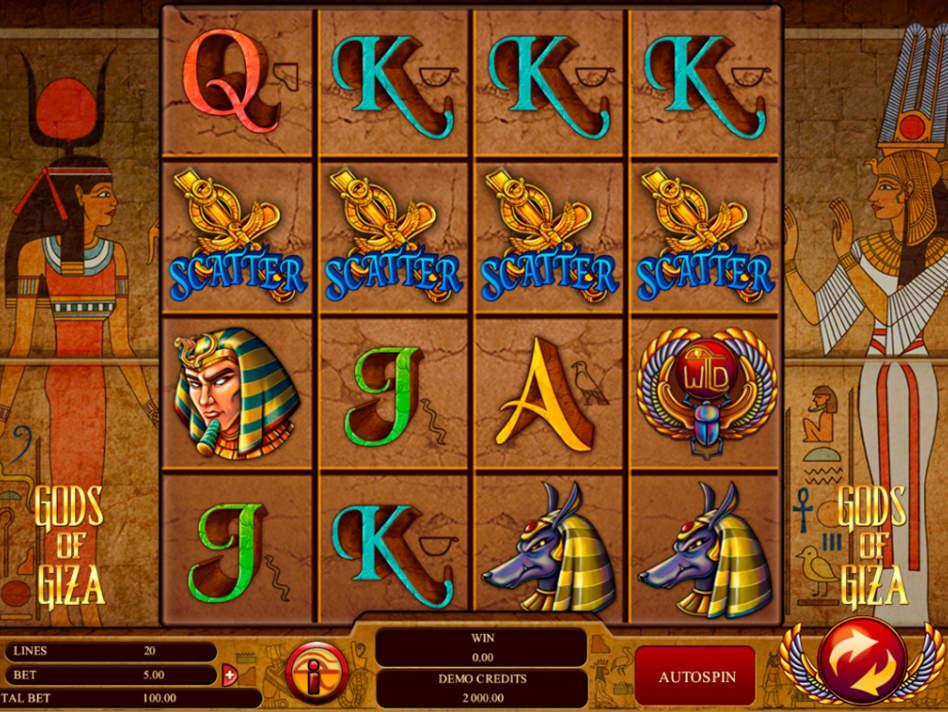 Gods of Giza – ключевой игровой аппарат Sol Casino