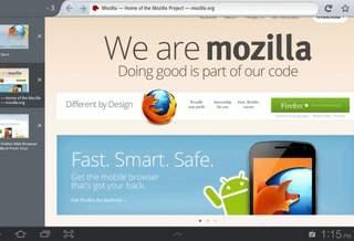 В новом Firefox 15 Beta для Android улучшена поддержка планшетов