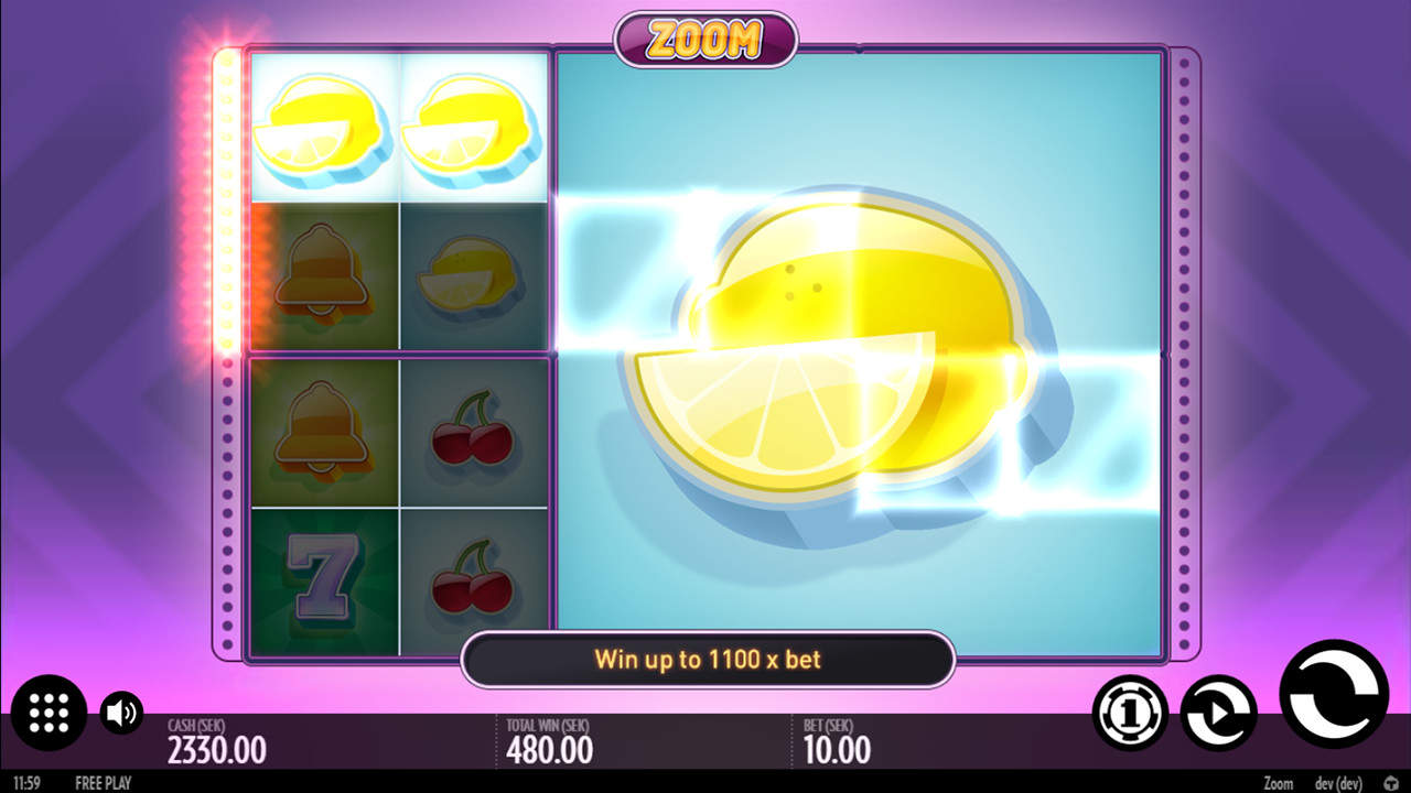 Zoom – слот фруктах от Rox